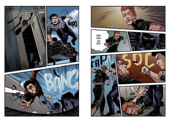 Páginas de Coronel Telhada em Quadrinhos