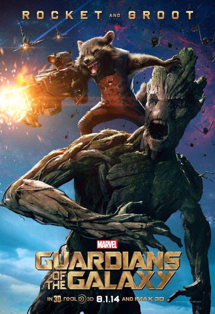Guardiões da Galáxia - Rocket e Groot