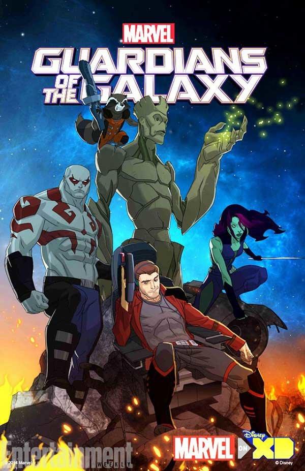 Cartaz do desenho animado de Guardiões da Galáxia