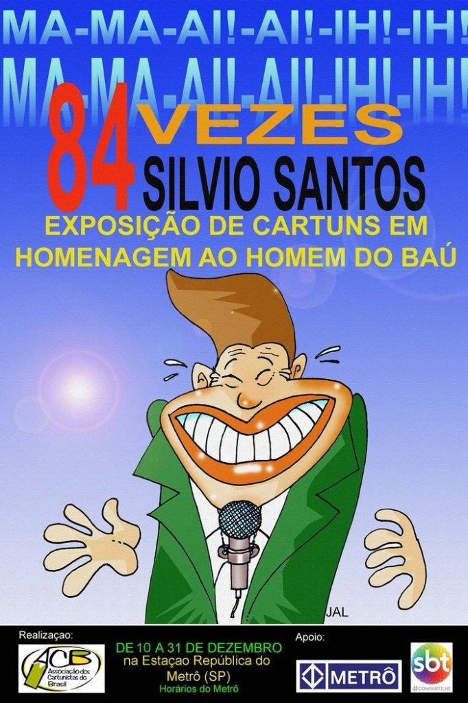 Cartaz expo silvio Santos com logos