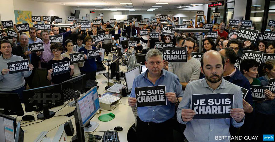 Agência France-Presse em luto pelos colegas perdidos