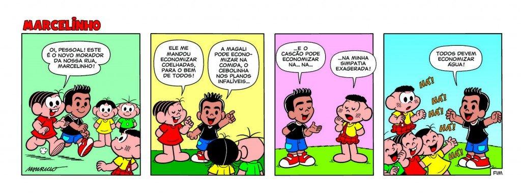 Primeira tira do Marcelinho