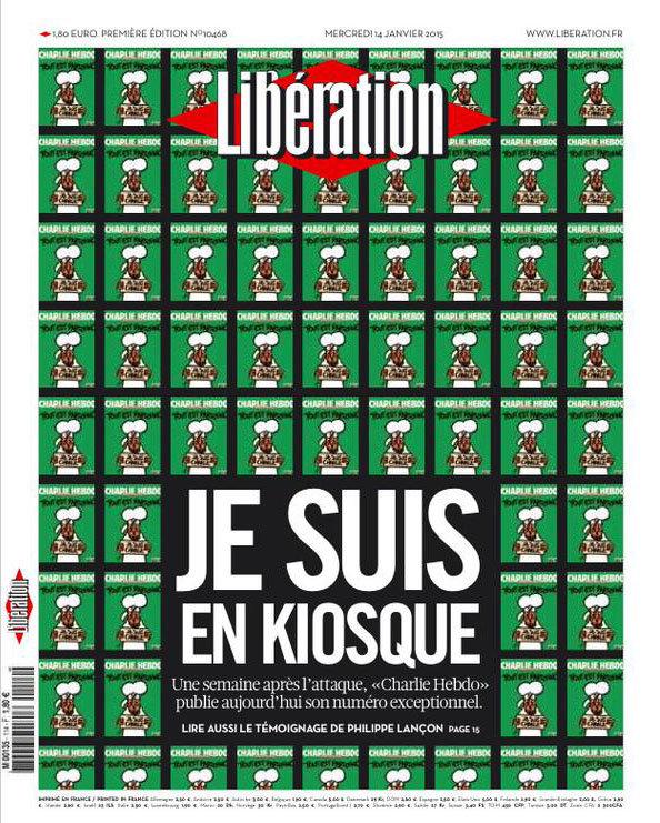 Capa da edição de 14 de janeiro de 2015, do Libération