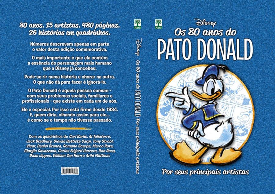 80 anos do Pato Donald por seus principais artistas