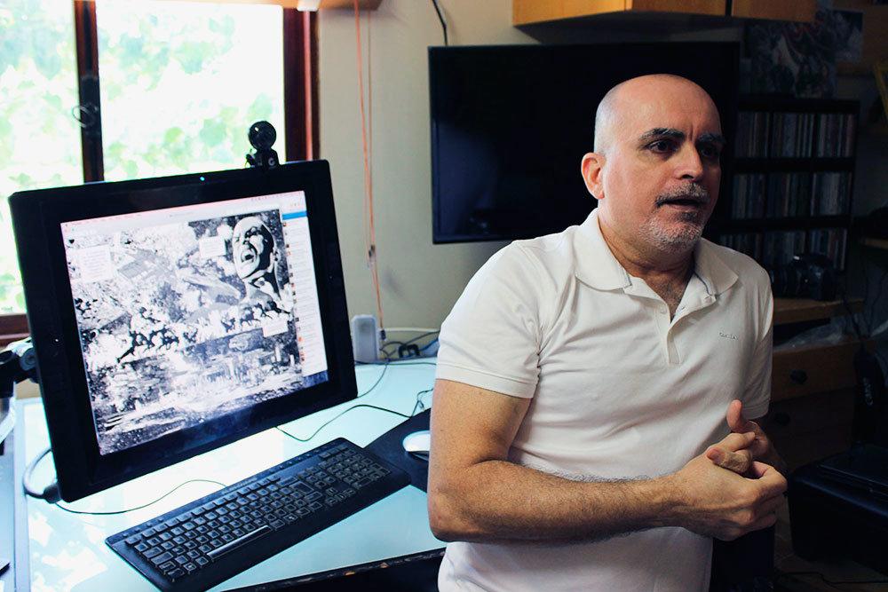 Mike Deodato Jr. com as duas páginas inéditas de 3000 Anos Depois