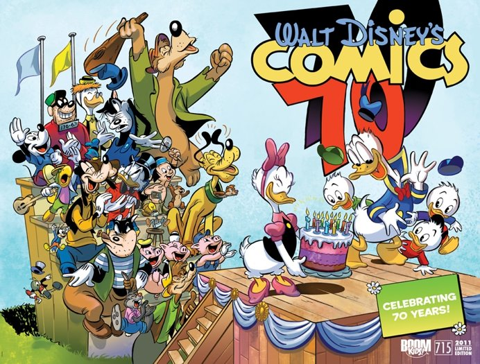 Walt Disney Comics Stories 70 years