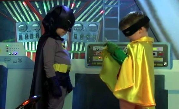 Batman e Robin crianças