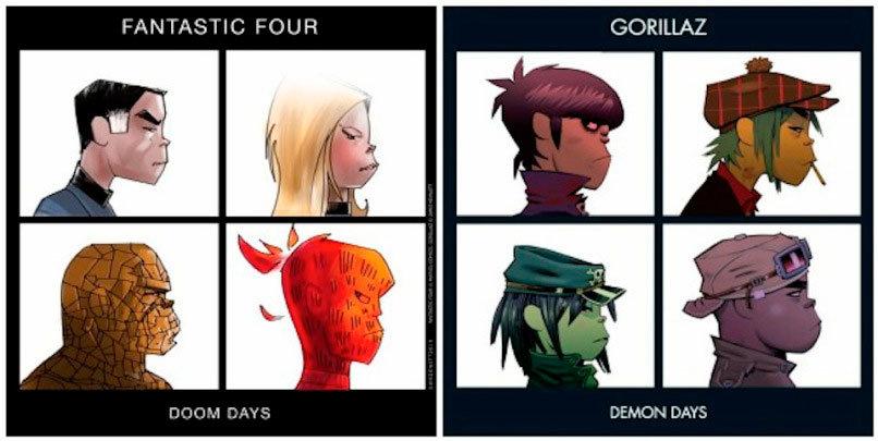 Quarteto Fantástico - Gorillaz: Demon Days