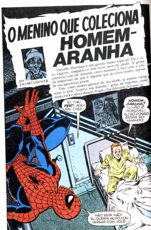 O menino que coleciona Homem-Aranha