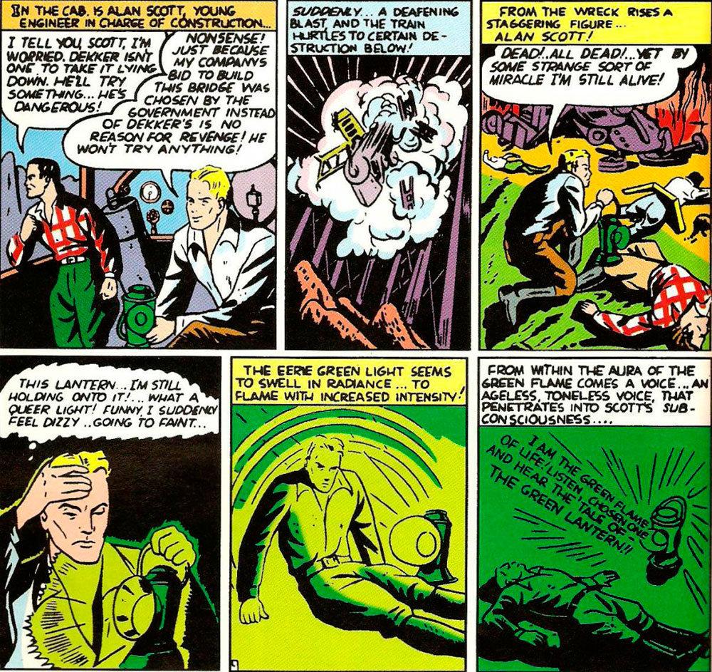 Origem do Lanterna Verde publicada em All-American Comics # 16