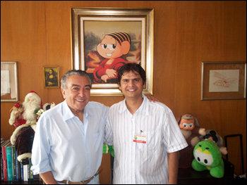 Mauricio de Sousa e Marcus Ramone