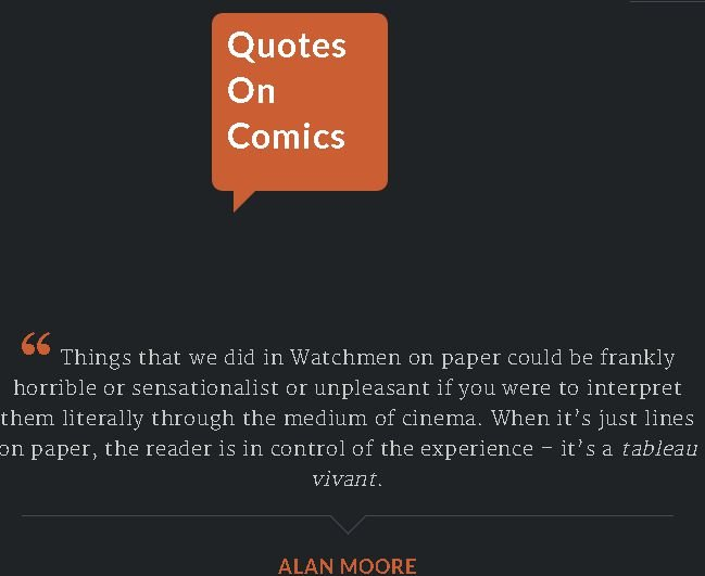 Quotes On Comics