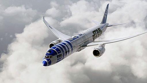 Star wars r2d2 estampa boeing de companhia a rea japonesa for Planeta de agostini r2d2