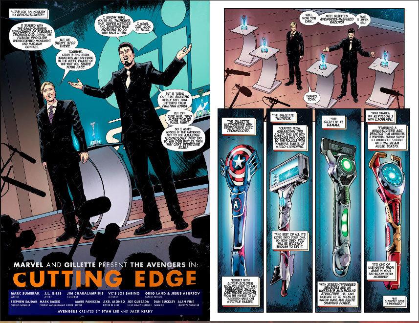HQ dos Vingadores em parceria com a Gillette