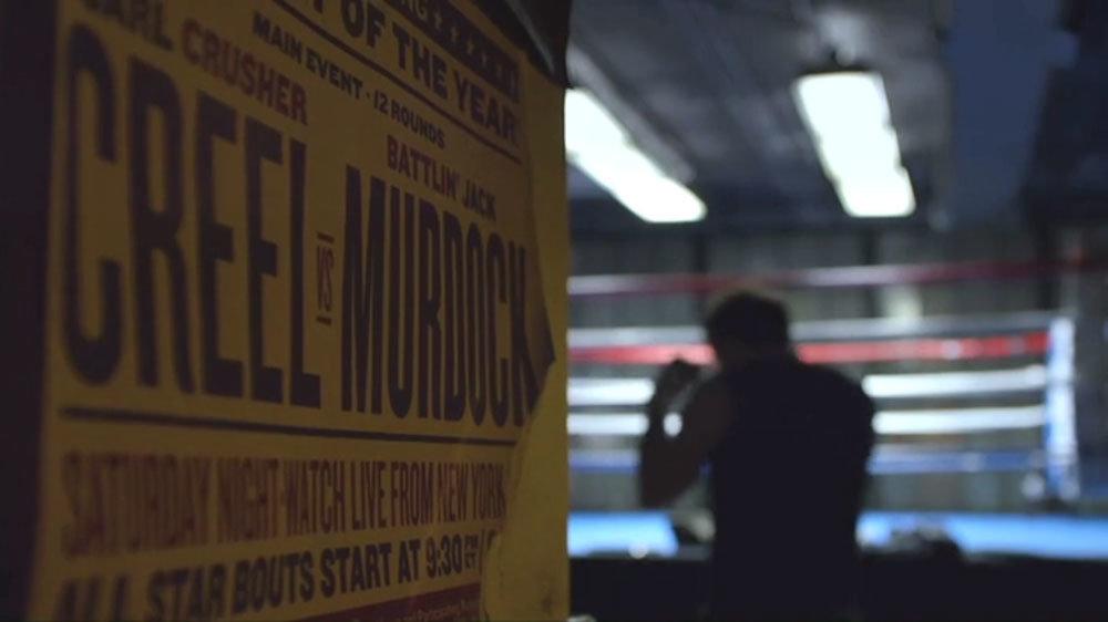 """Cartaz da luta entre Carl """"Crusher"""" Creel e Jack Murdock"""