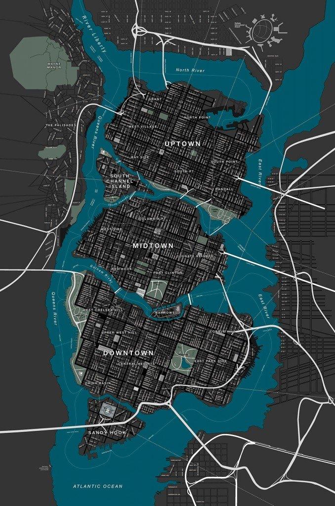 Mapa de Gotham City