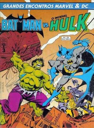 Coleção  Grandes Encontros Marvel e DC Bat Hulk