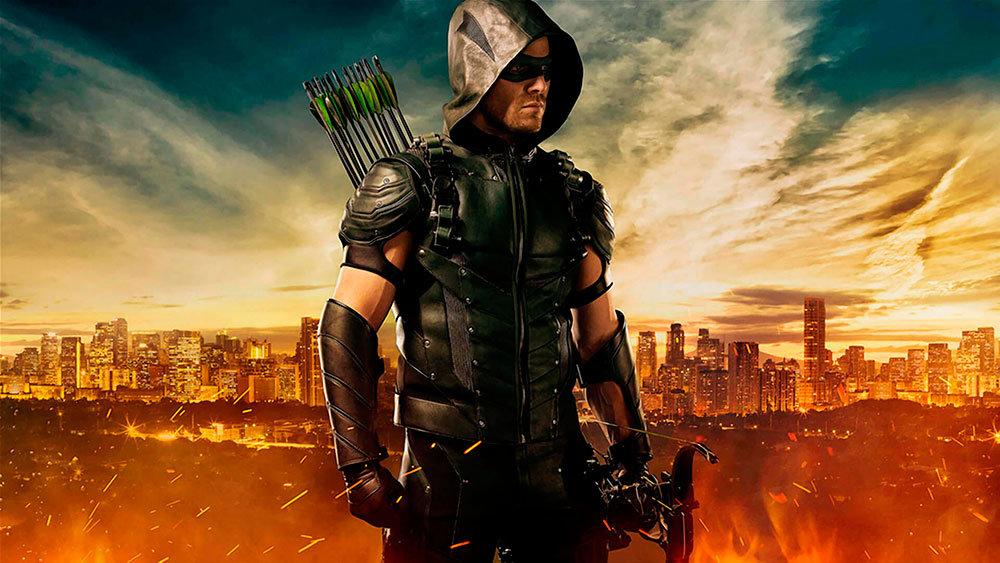 Traje de Arrow na quarta temporada.