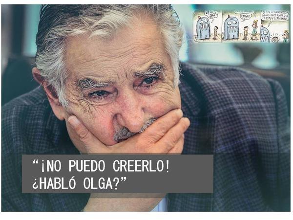 """Mujica, ex-presidente do Uruguai: """"Não acredito! Você fala, Olga?"""""""