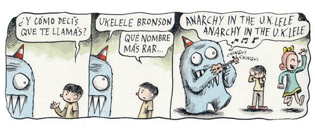 """""""Como disse que se chama?""""/""""Uklele Bronson"""", """"Que nome mais rar..."""""""