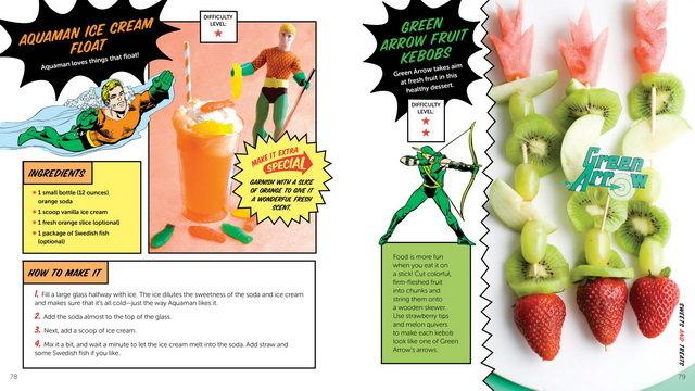 livro Official DC Comics Super Hero Cookbook pag