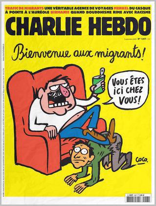 Charlie Hebdo, capa da edição de 9 de setembro de 2015