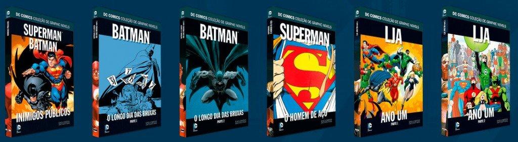 Volumes 5 a 10 da DC Comics Coleção de Graphic Novels