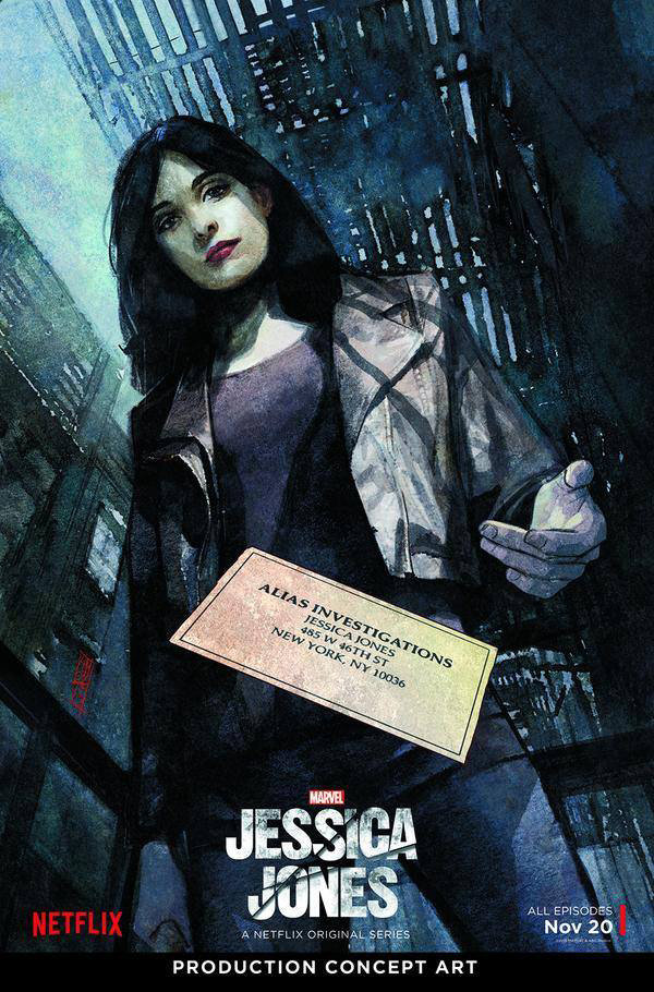 Cartaz de Jessica Jones, de Alex Mmaleev