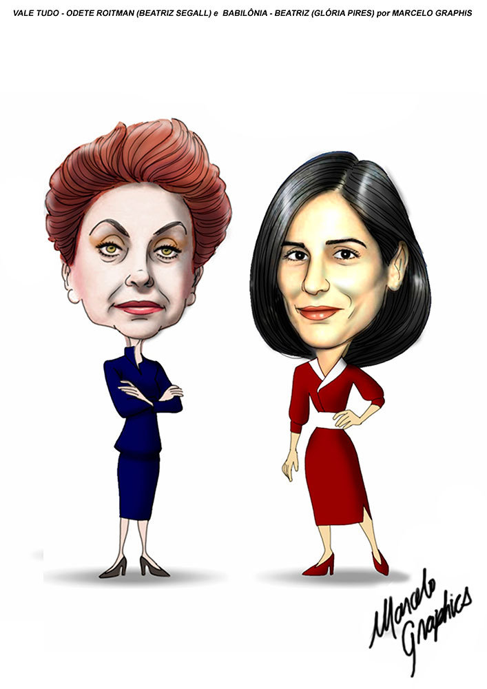Beatriz Segall e Gloria Pires, por Marcelo Graphis
