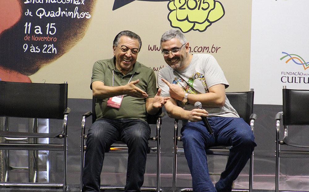 Mauricio de Sousa e Sidney Gusman