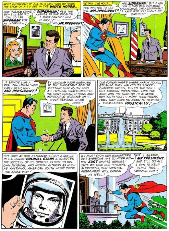 Superman e John Kennedy