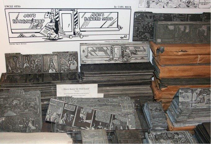 Chapas de zinco com trabalhos de Will Eisner