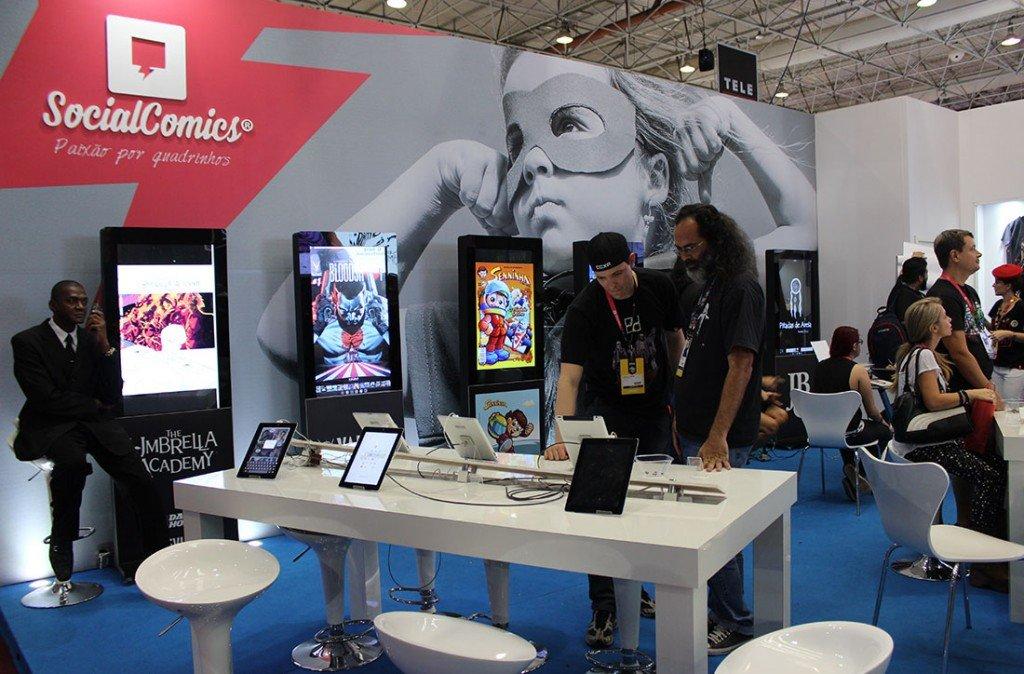 Estande do Social Comics na CCXP 2015