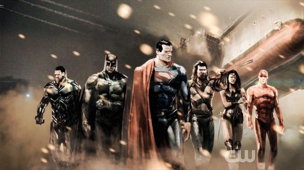 Arte conceitual de Liga da Justiça