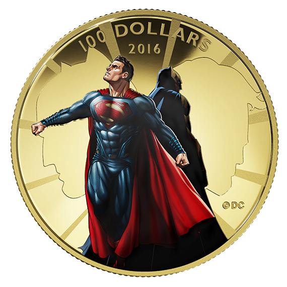 Moedas de Batman vs. Superman