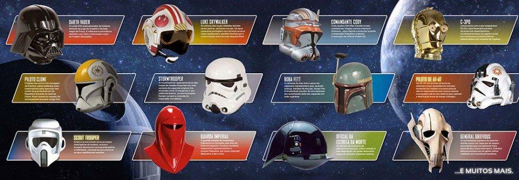 Star Wars Capacetes de Coleção