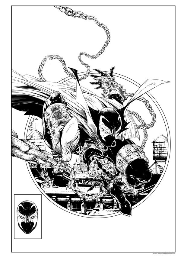 Spawn - Adult Coloring Book