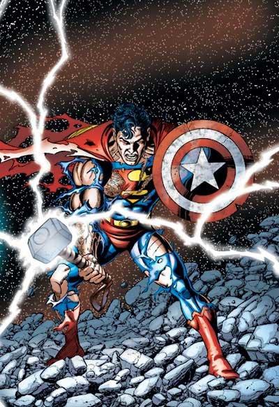 Superman no crossover entre Liga da Justiça e Vingadores